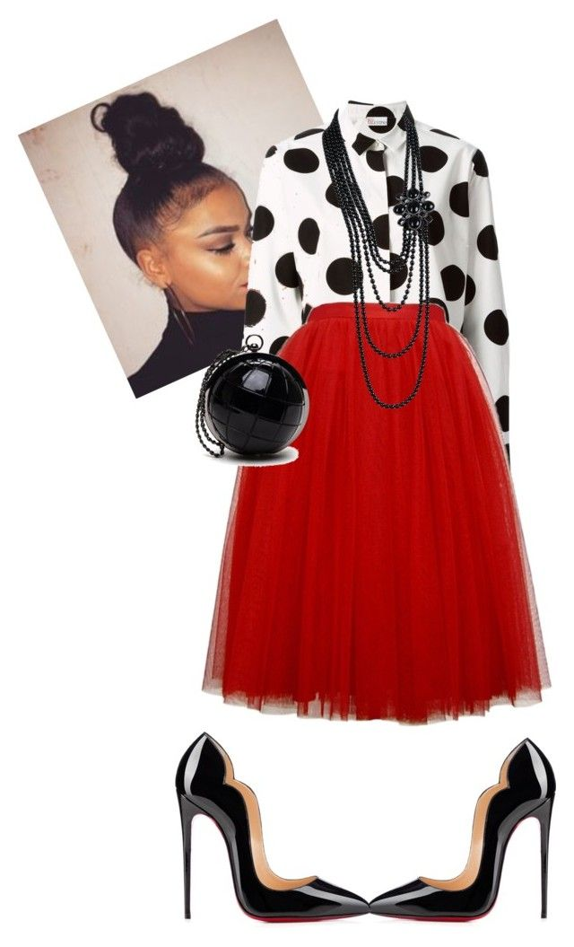 """""""Morning Manna!!!! #iloveaim"""" by cogic-fashion on Polyvore featuring RED Valentino, Christian Louboutin and Chanel"""