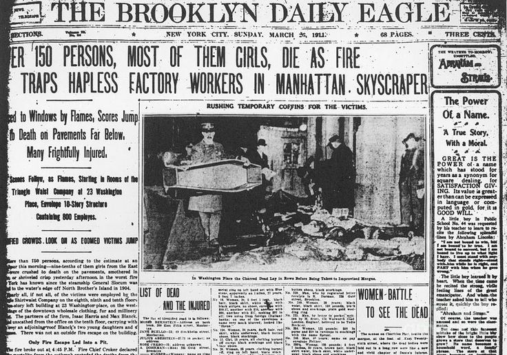 Triangle Shirtwaist Factory Fire - New York City