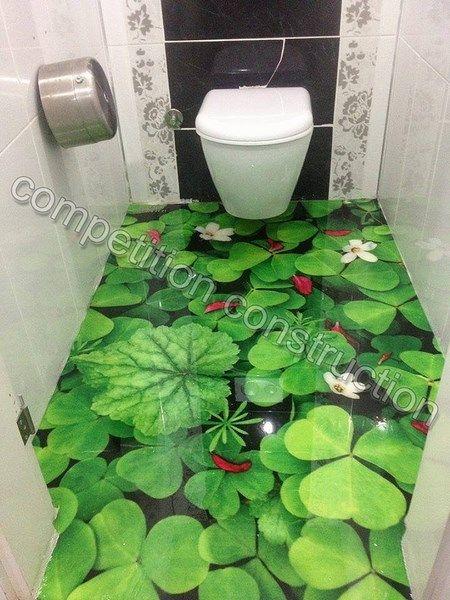 3d Illusion On The Bathroom Floor House Ideas
