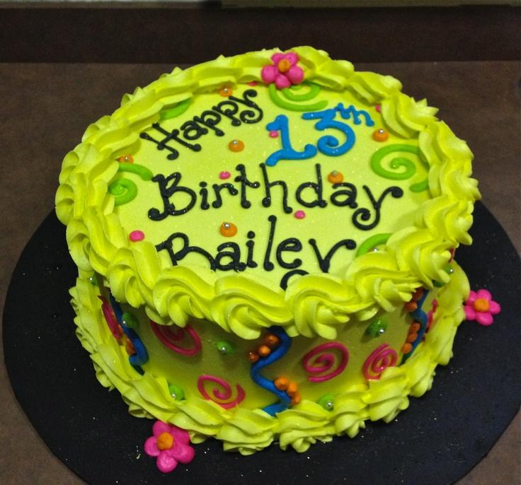 Girl On Bed Birthday Cake
