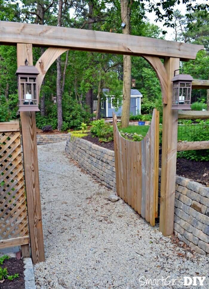 Best 25 garden arbor ideas on pinterest arbors for Gate arbor plans