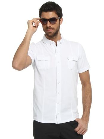Kısa Kollu Beyaz Gömlek 29.90 TL