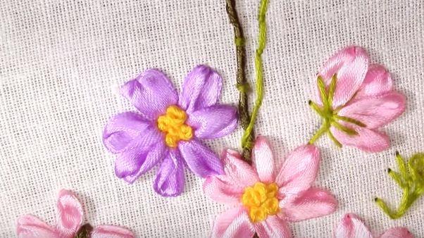 Tutorial: Borduren met zijde lint  | Knipmode