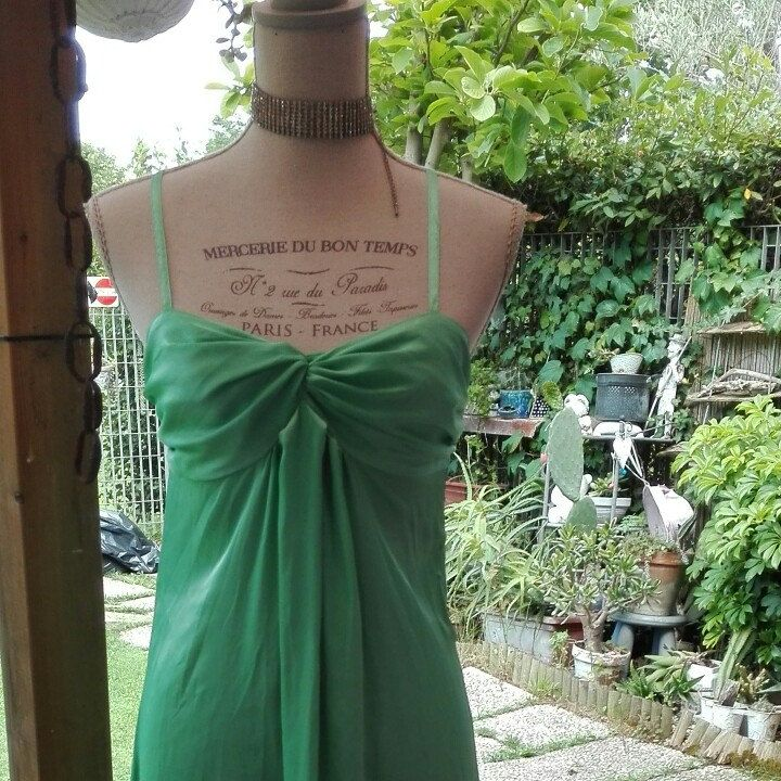 Camicia da notte shabby chic vintage verde Green nightgown woman chic