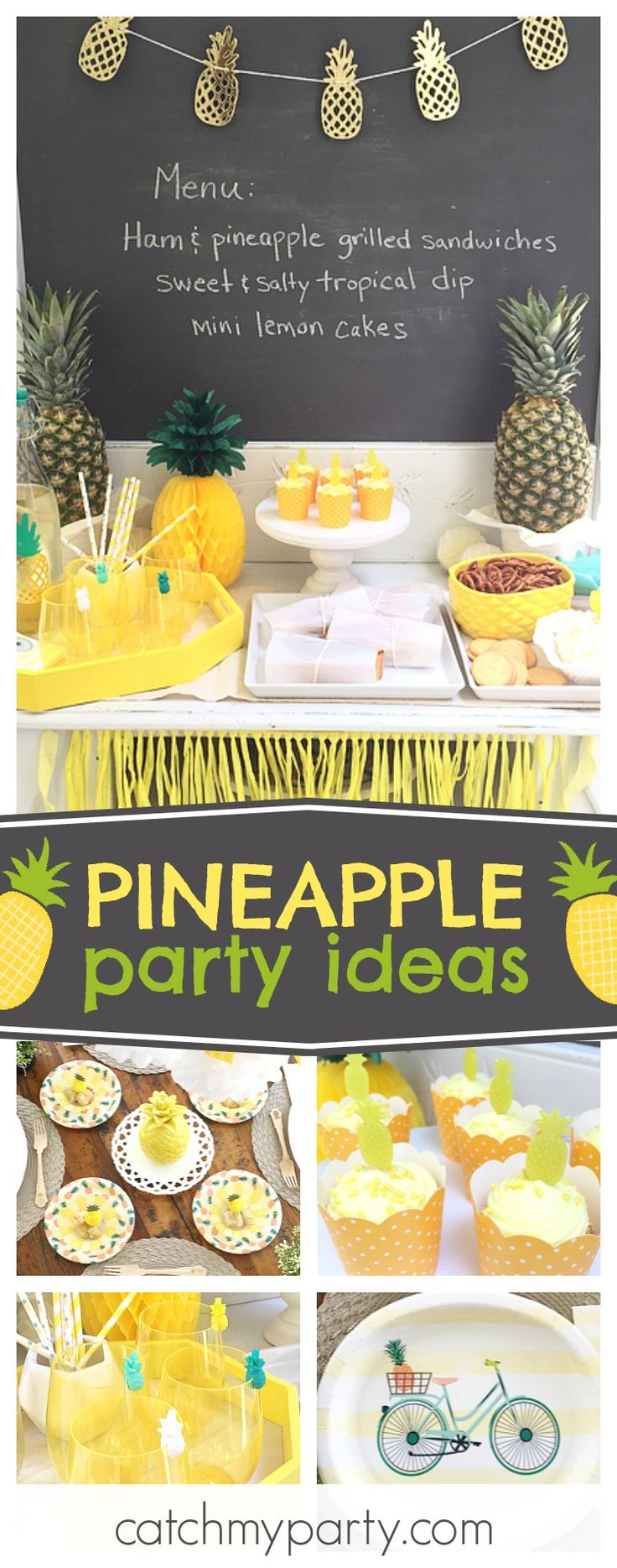 Check out this awesome Pineapple Summer party. The cupcakes are so cute!!! See more party ideas and share yours at CatchMyParty.com