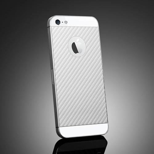 Skin Guard iPhone 5 - textura Carbon alb de la SPIGEN SGP