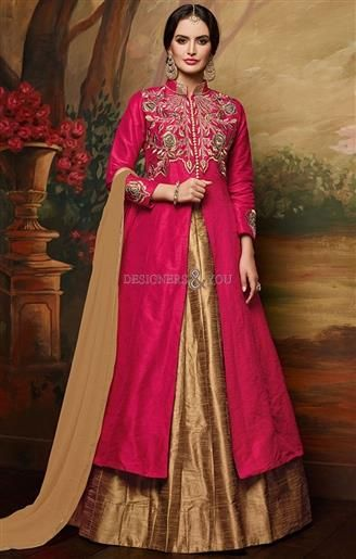 Different styles front cut latest indo western dresses for women online  #Indian #Indian Trends #Modern #Good Looking #New Arrival #Freshness #Vogue #Inspiring #Interesting #Collection #Fashionable #Women's Wear #Indian Style #Pretty #Awesome