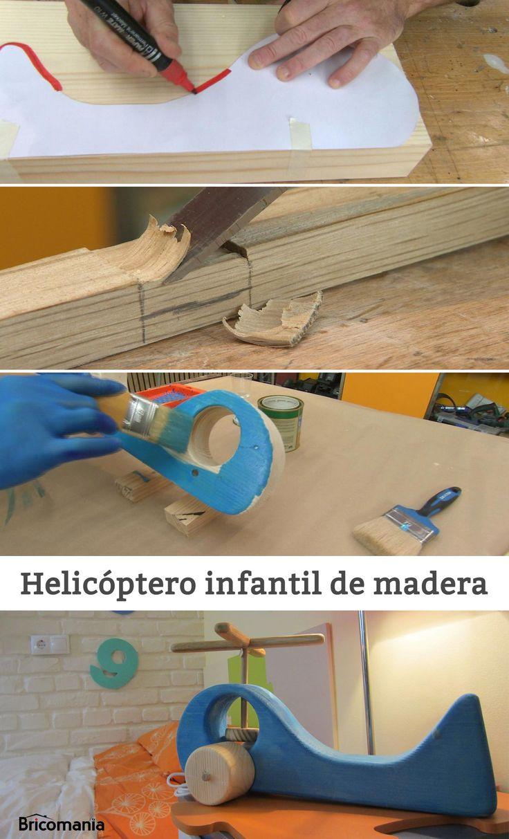 helicptero infantil de madera