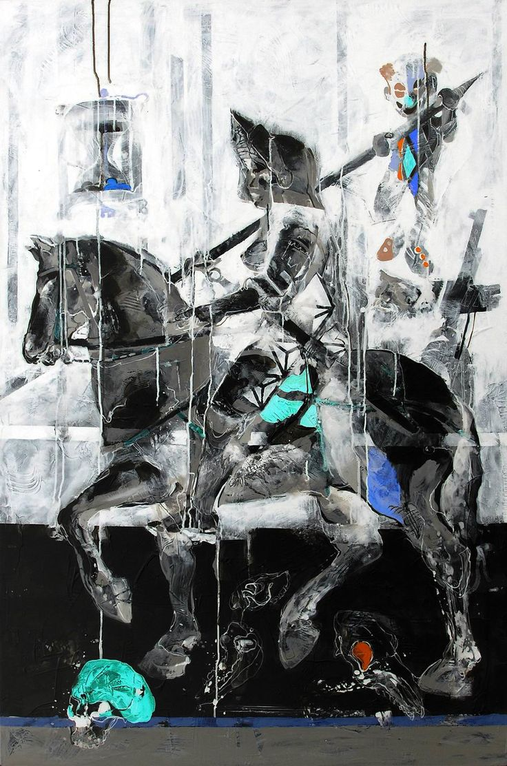 Janusz Tyrpak # Time to Albrecht Dure # Knight, Death & the Devil # 150x100cm # Janusz Tyrpak on ArtStack # janusz-tyrpak # art