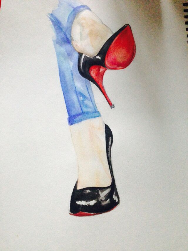 Tuesday shoes #shoes #christianlouboutin #louboutin #art #sketch #highhills