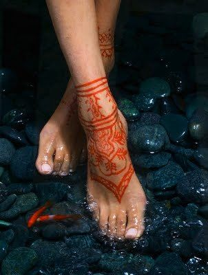 25 best ideas about red tattoos on pinterest inspiring for Red henna tattoo