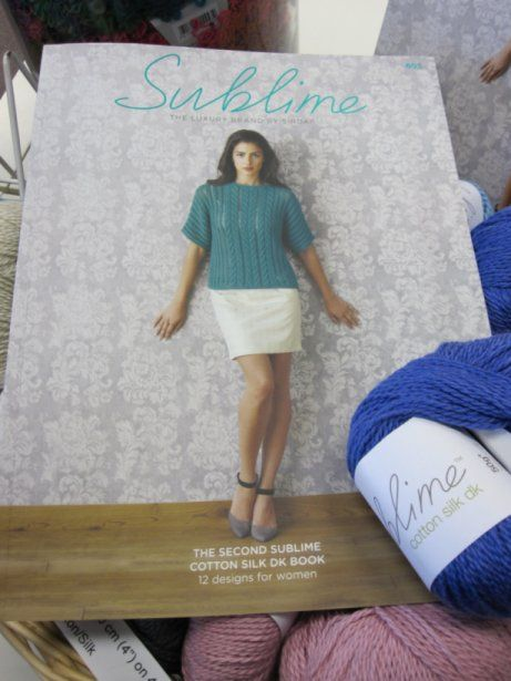 The Second Sublime Cotton Silk DK Book 695, available online and in-store.