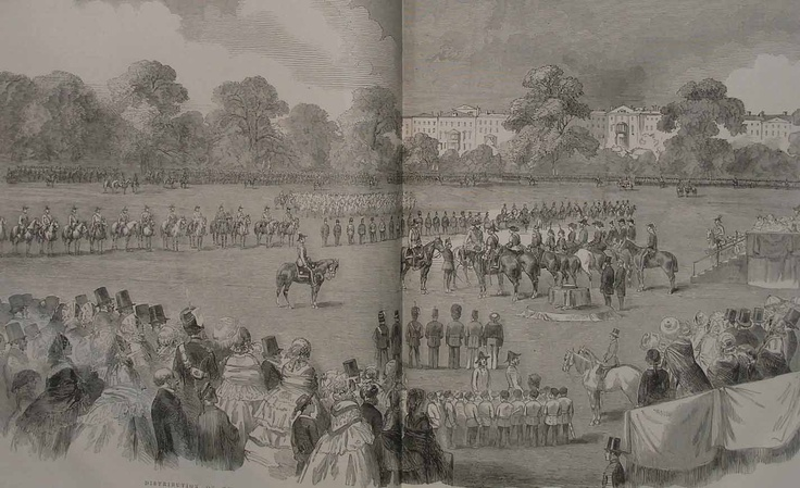 VICTORIA CROSS PRESENTATION -1858-Images of India - Illustrated London News