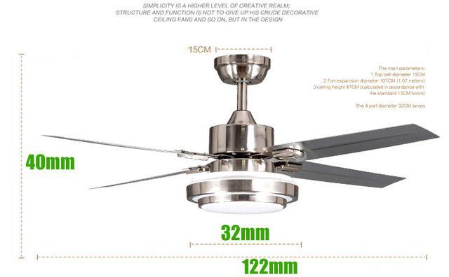 18 ワット-24 ワット led シーリング ファン照明、 すべて ステンレス鋼建設、省エネ ペンダント ランプ 、 ac220v 、 dhl…