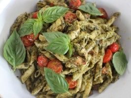 Pesto chicken penne ...just watched this being made on TV looked great!