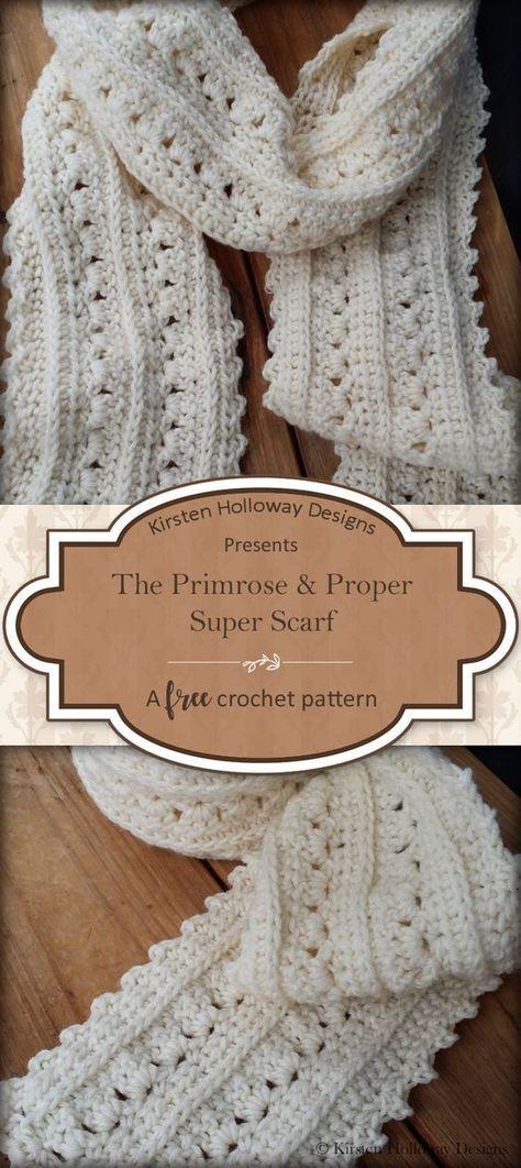Padrão de cachecol: Primrose e Proper