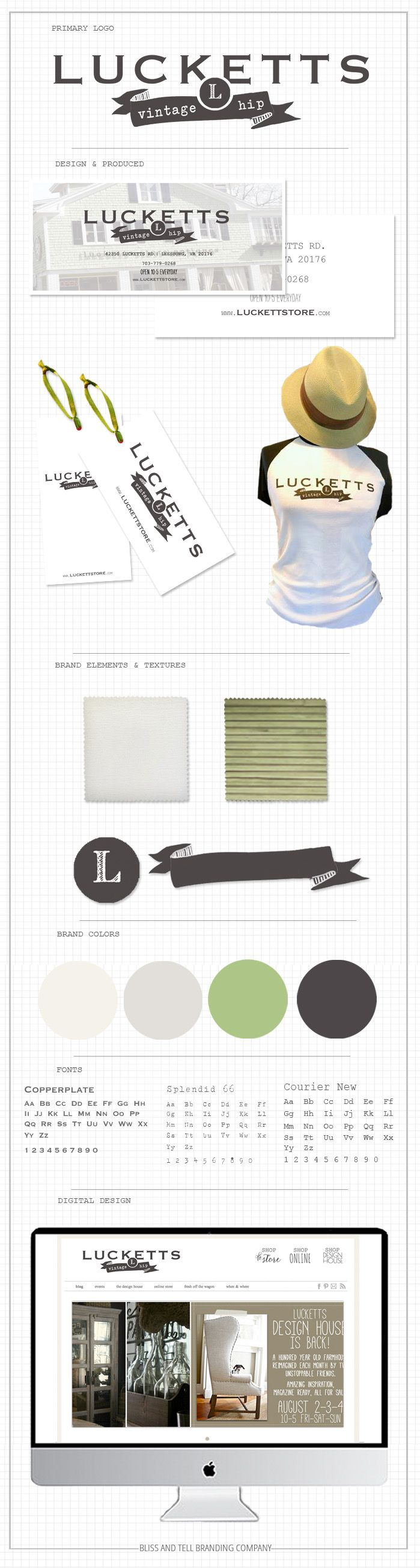 design & branding by blissandtellbrandingcompany.com for LUCKETTS