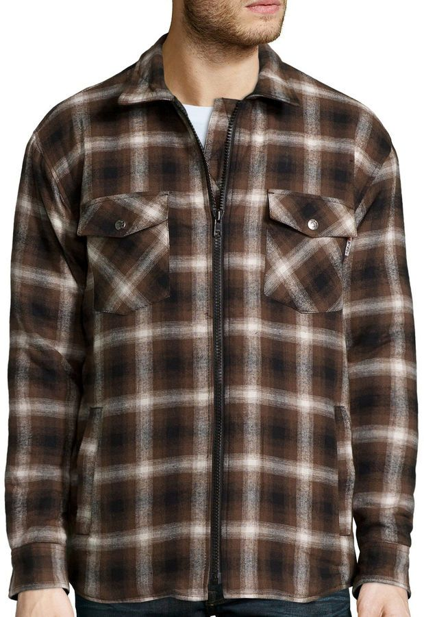 fdd8c5386 Work King Zip-Front Quilt-Lined Flannel Shirt