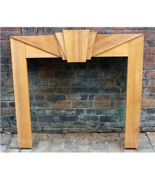 1930's Fire Surround in Oak Art Deco