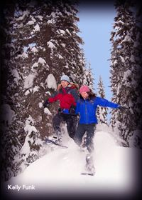 Snowshoeing in Kamloops, British Columbia