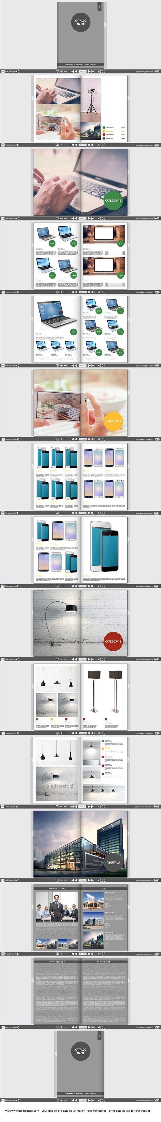 New Eigenen individuellen Katalog anhand von Vorlagen online erstellen und g nstig ab Exemplar drucken Jetzt kostenlos gestalten