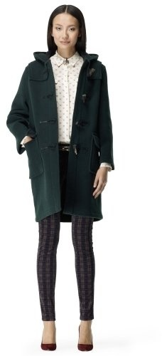 A ladylike toggle coat in a flattering shade? Look no further than Club Monaco's Gloverall Duffle Coat ($560).