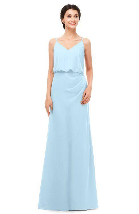 ColsBM Sasha - Ice Blue Bridesmaid Dresses | Dusty blue ...