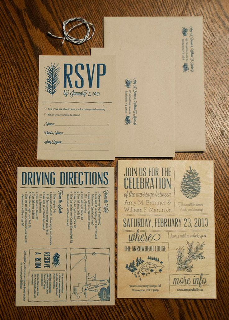 melanie made amy billys wedding celebration invitation - Wood Wedding Invitations