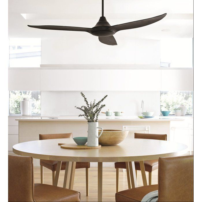 60 Hutton 3 Blade Ceiling Fan With Remote Control Ceiling Fan