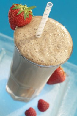 Chocolate Strawberry Shake  Help improve your immune system with vitamin C-rich strawberries.  chocolate-strawberry-shake  Ingredients: 2 scoops Formula 1 Chocolate 2 Personalized Protein Powder (or more) 1 cup plain almond milk or nonfat milk 1 cup frozen strawberries A few drops vanilla extract 4 ice cubes
