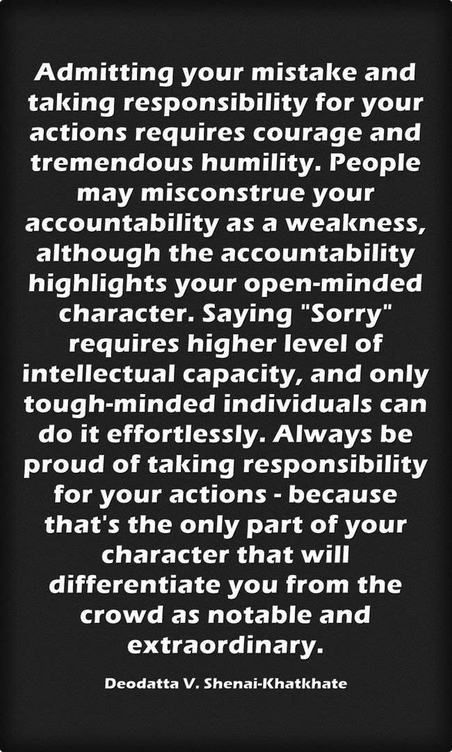 Pin By Jennifer Witt On Quotes Humility Quotes Accountability Quotes Take Responsibility Quotes