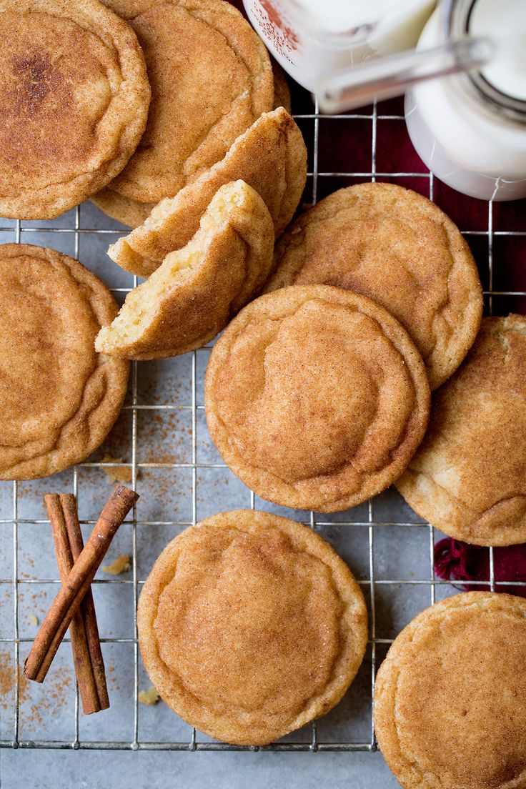 My favorite Snickerdoodles! No one can resist these cookies! They are so deliciously cinnamon-y and perfectly soft and chewy. Just they way they should be.
