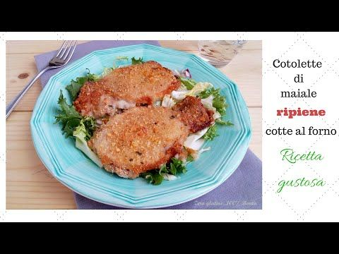 Cotolette di maiale ripiene e cotte al forno - ricetta facile