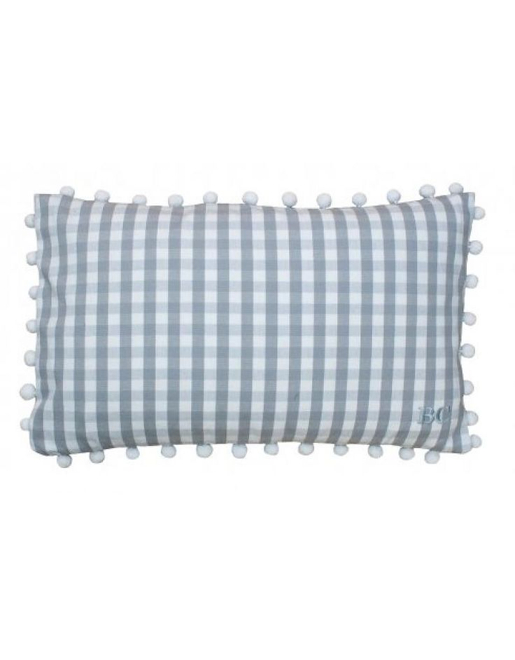 Bastion Collections Cushion Check L. Grey - Pracht Interieur