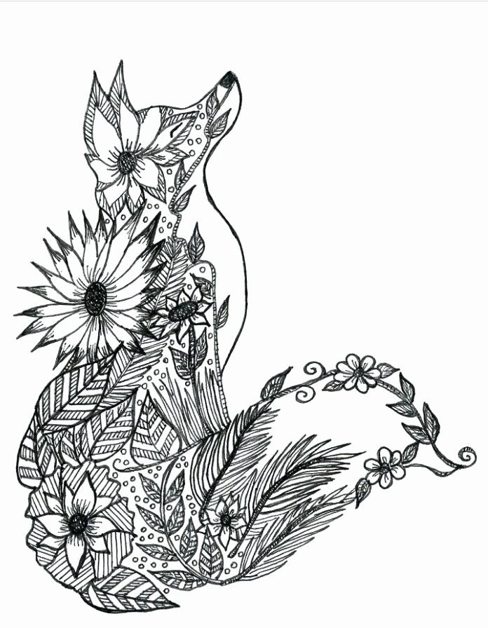 Fennec Fox Coloring Page Inspirational Fennec Fox Hard Coloring Pages Print Coloring In 2020 Fox Coloring Page Animal Coloring Pages Mandala Coloring Pages