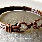 Handmade copper clasp