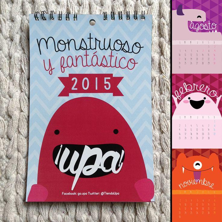 Calendario pequeño del 2015 / diseño / design / calendar / illustration / monster