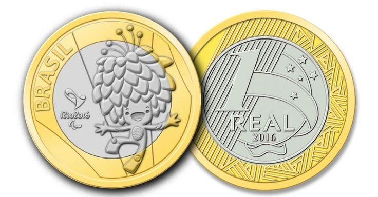 EM CIRCULAÇÃO - Tom, a mascote paralímpica, é estampada nesta moeda de R$ 1
