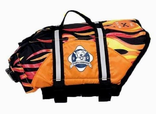 Paws Aboard Dog Life Jacket Flame Pet Dog Life Vest for Swimming Safety in Water #PawsAboard