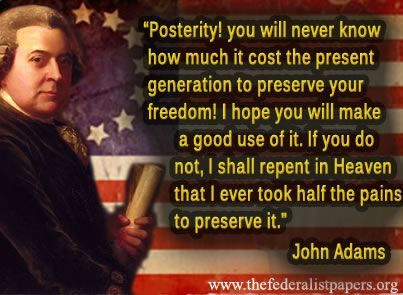 John Adams Quote, Posterity