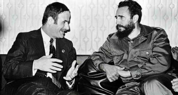 Hafez Assad President of Syria and Fidel Castro Former Prime ...