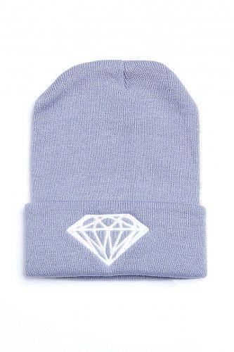 Grå Beanie - Diamond, 29:-