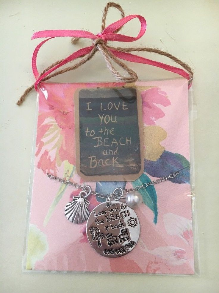I Love You To The Beach And Back Necklace In Gift Package  | eBay