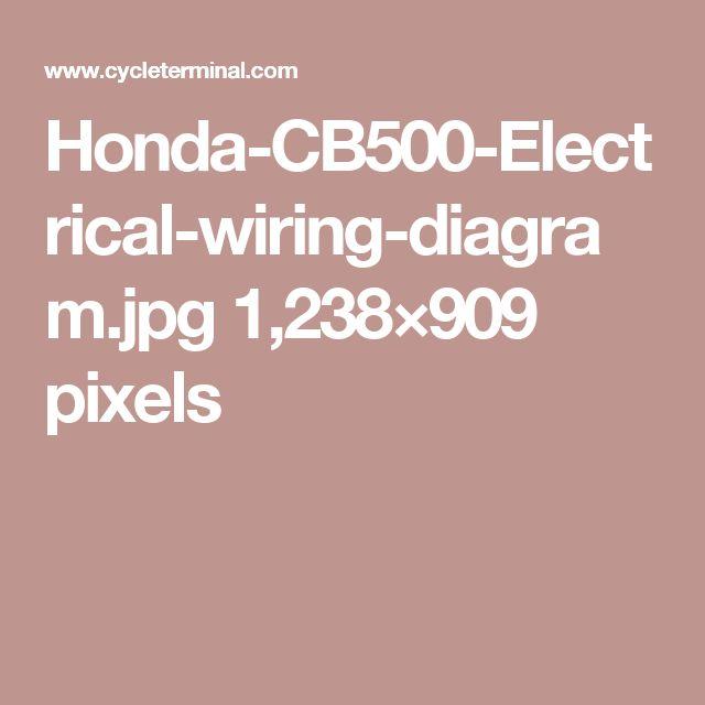 honda cb500 electrical wiring diagram jpg 1 238 909 pixels honda rh tr pinterest com