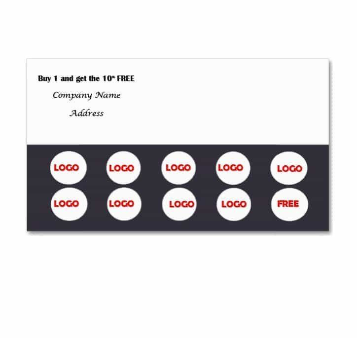 Punch Card Template Word 30 Printable Punch Reward Card Templates Free Card Templates Free Card Templates Punch Cards