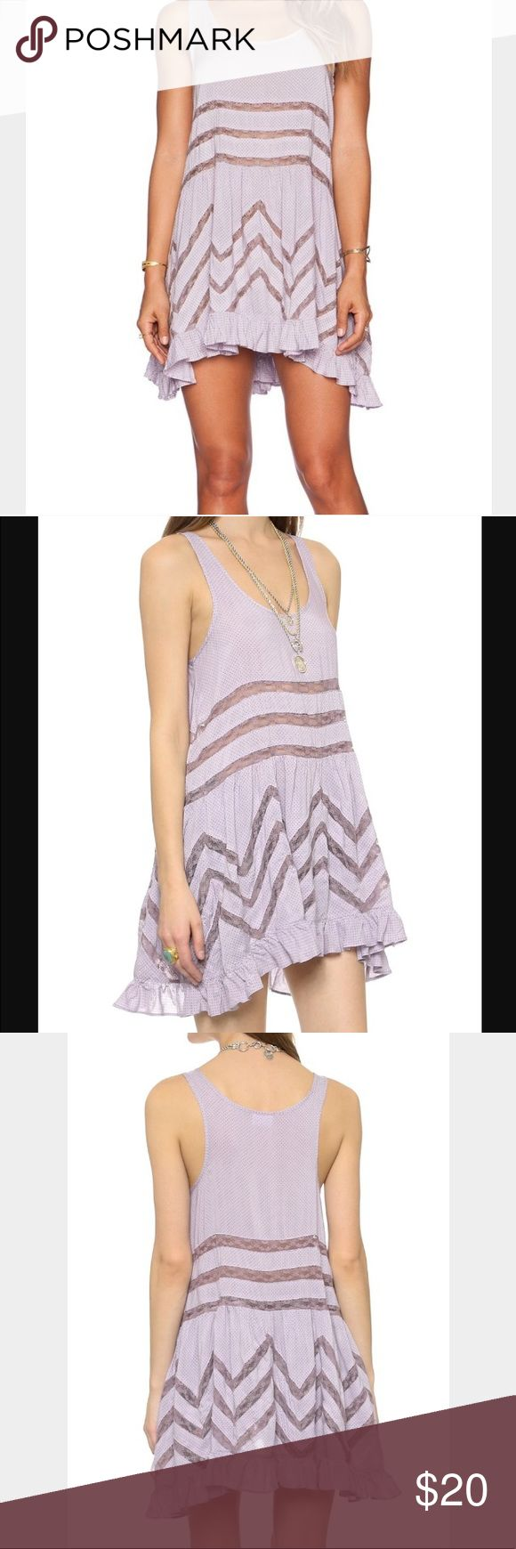 Free People Trapeze Voile Dress XS Free People Intimately Trapeze Voile Lace Slip XS. Light Purple/Violet Color 💜 30% off 2 or more items Free People Intimates & Sleepwear Chemises & Slips