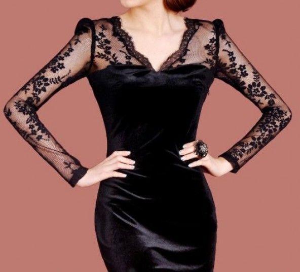 Kadife Abiye Elbise Modelleri Guzel Pinterest Kurti Black Velvet And Dream Closets