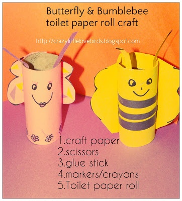Butterfly And Bumblebee Toilet Paper Roll Craft My Pins