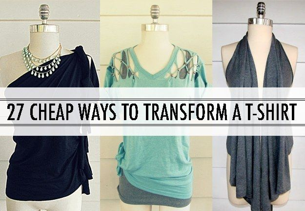 27 Cheap Ways to Transform a T-shirt with @La Farme / Anne A. Hollabaugh aka. WobiSobi