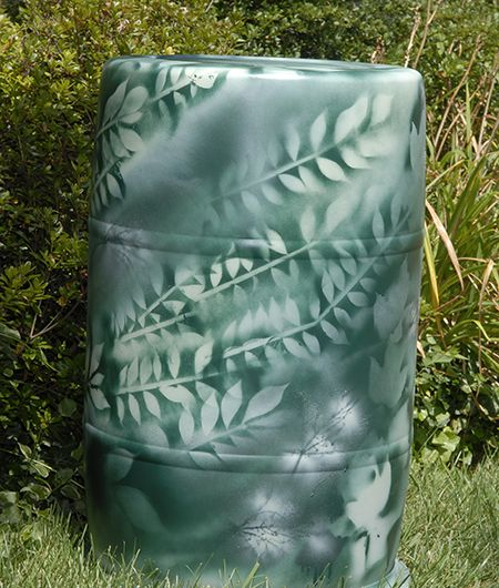 Step 7: Use as many/or few shapes as you like to create one of a kind rain barrels - as seen on www.aquabarrel.com